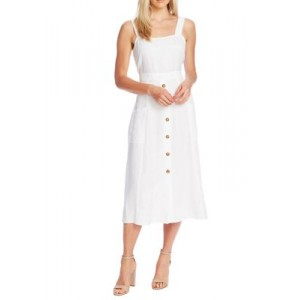 Vince Camuto Women's Sleeveless A Line 2 Pocket Dress White Loose Fit - Women's Capris In Store DIIN414