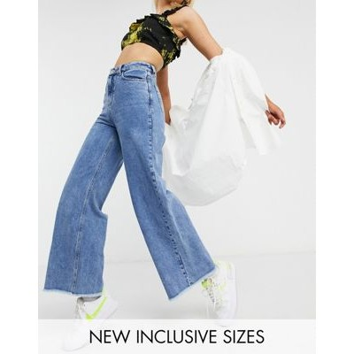 COLLUSION x008 wide leg jeans in stonewash blue for Women shopping TFSW377