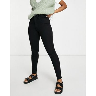 DESIGN high rise ridley 'skinny' jeans in clean black Size 7 for Women's HIVH545
