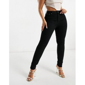 DESIGN Hourglass high rise 'lift and contour' skinny jeans in clean black for Women stores TJQT484
