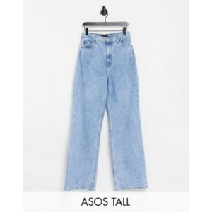 DESIGN Tall high rise relaxed dad jeans in light wash Size Is 27 Trending UOKC549