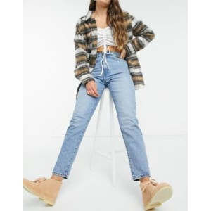 Dr Denim Nora sky high mom jeans in lightwash blue 25 Inch Leg for Young Women HOMZ698