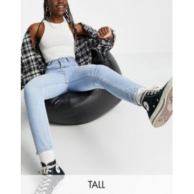 Dr Denim Tall Nora high rise mom jeans in bleach wash blue 25 Inch Leg for Women Recommendations ZRKC218