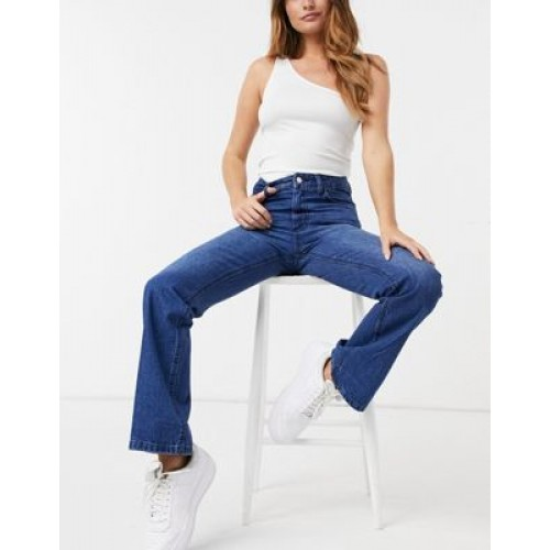Femme Luxe high waist slim flares in blue lifestyle GPBS128