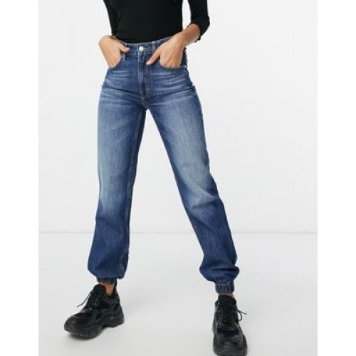Guess high waist jean in washed blue 29 Inch for Women sale online LZIL456