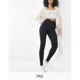 Missguided Tall vice skinny jean with belt loops in black New MTEK800