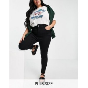 New Look Curve high waist lift and shape skinny jeans in black on sale near me PADE342