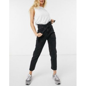 Only maya carrot leg jeans with high waist in black Fit new in OGBN894