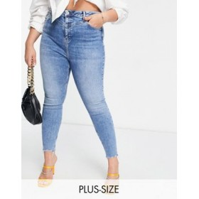 River Island Plus high rise skinny jeans in light authentic wash 25 Inch Leg for Young Women Hot Sale NRNG755