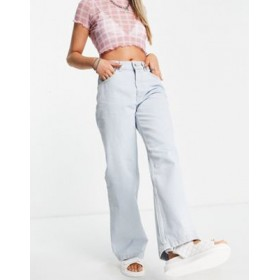 The Ragged Priest high waisted dad jeans in stone wash Design DDXD523