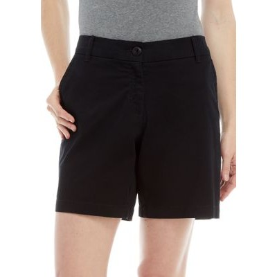 Crown & Ivy™ Women's 7 Inch Shorts Black Fit - Women's Shorts ARMO952