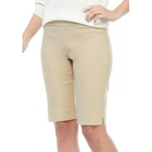 New Directions® Women's Pull On Millennium Shorts Boze Tan Fit - Women's Shorts Clearance Sale JQWB332