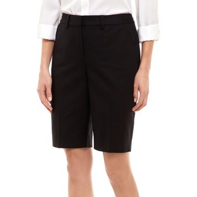 THE LIMITED Women's Polished 11 Inch Bermuda Shorts Black - Women's Shorts outlet ZBZP606