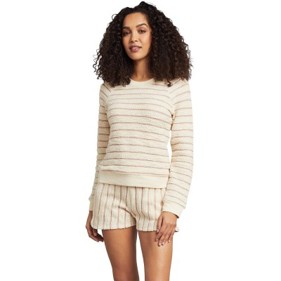 Faherty Women's Pacifica Terry Crew Sweatshirt Quality Cut Off