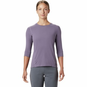 Mountain Hardwear Women's Crater Lake 3/4 Crew Top Everyday For Sale #MHW01A1
