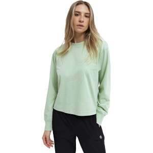Reigning Champ Sleeve Top - Women's Mockneck Midweight Jersey Long Going Out Clearance