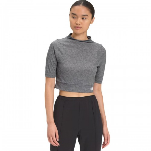 The North Face Sleeve Boxy Crop Top - Women's Vyrtue Short Short Sleeve lifestyle