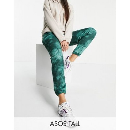 DESIGN Tall tie dye sweatpants in green for Young Women At Target EHVL859