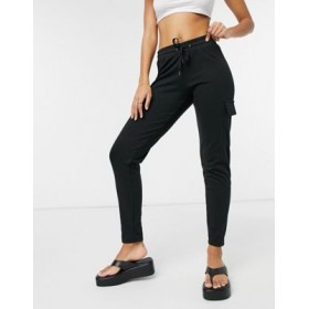 Noisy May cargo sweatpants in black Business for Young Women Selling Well CYBB442