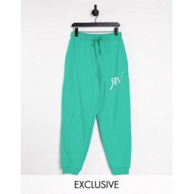 Reclaimed Vintage Inspired logo unisex sweatpants in green Business RUYQ577