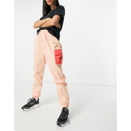 Reebok logo cargo pants in pink with pocket detail Custom for Young Women Recommendations WNJC984