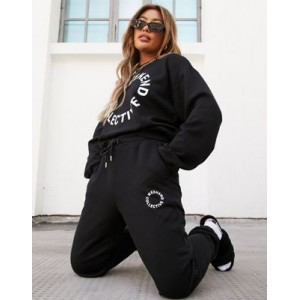 Weekend Collective oversized sweatpants with logo in black for Young Women Lowest Price QSZC881