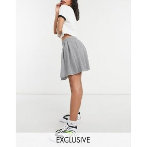 COLLUSION pleated mini skirt in gray heather for Women's ZEIS445