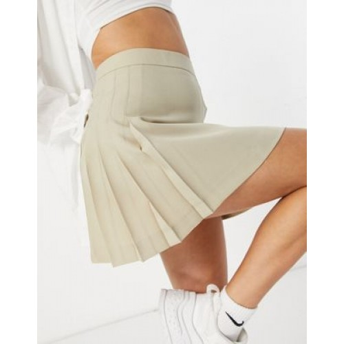DESIGN 90s pleated kilt in camel for Young Women TROH426