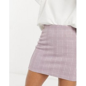 DESIGN jersey 3 piece suit skirt in pastel check Quality for Women e fashion BQSB804