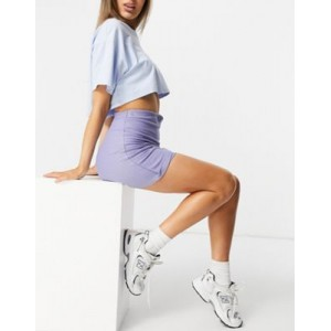 DESIGN loopback mini skirt with ruched detail in lilac for Women good quality JXTF374