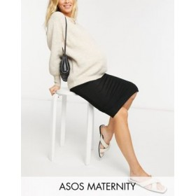 DESIGN Maternity jersey midi pencil skirt in black for Young Women CCXF581