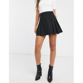 DESIGN pleated mini skirt in black Comfortable for Young Women Top Sale QZQK681