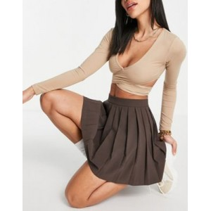 DESIGN tennis skirt in chocolate For Summer boutique MLZB333