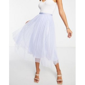Needle & Thread Kisses tulle midaxi coordinating skirt in dusty blue Quality for Women the best TZSF618
