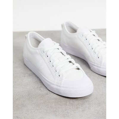 adidas Originals Nizza Trefoil sneakers in triple white For Work cool designs ZXYY760
