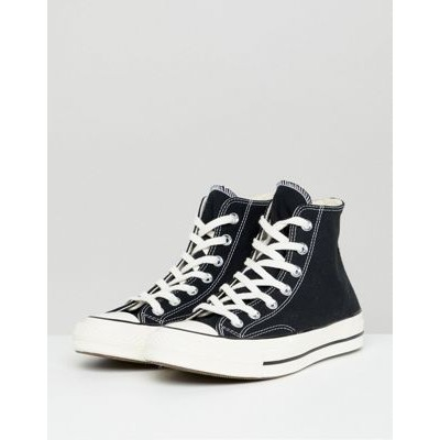 Converse Chuck 70 Hi canvas sneakers in black Everyday for Young Women Cut Off YNOG735