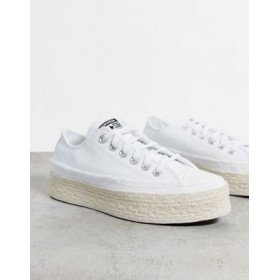 Converse Chuck Taylor All Star Lift OX Espadrille sneakers in white Casual for Women Fit CDWP915