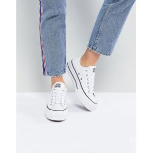 Converse Chuck Taylor All Star Ox canvas platform sneakers in white for Women's Business Casual BERR607