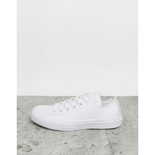 Converse Chuck Taylor All Star Ox leather sneakers in white mono Cool for Women Regular GSOD686