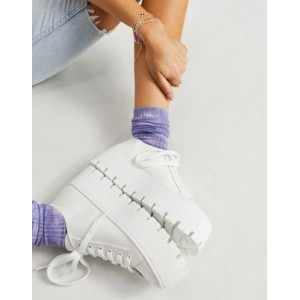 DESIGN Devoted chunky canvas sneakers in white for Women's Collection AUJU957