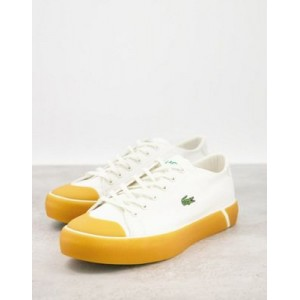 Lacoste Gripshot flatform gumsole sneakers in white Everyday for Women GGWP144