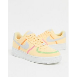 Nike Air Force 1 '07 LX canvas sneakers in yellow for Women's For Sale HOVU833
