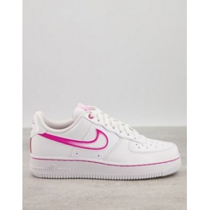 Nike Air Force 1 '07 sneakers in white/fireberry for Women Clearance HTEQ624