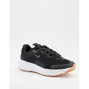 Nike Running React Escape Run sneakers in black Extra Wide for Women MUVU466