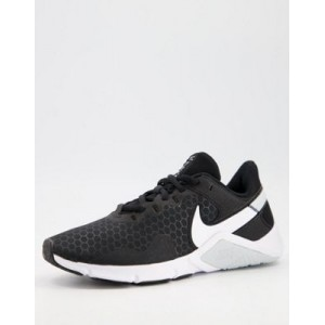 Nike Training Legend Essential 2 sneakers in black Extra Wide Fitted DZRR657