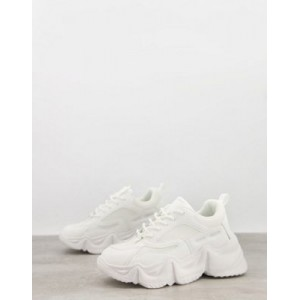 Public Desire chunky sneakers in white Colorful KMOY611
