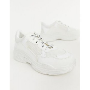 Public Desire Fiyah chunky sneakers in white Running outlet BBBD756