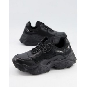 Public Desire Furious chunky sneakers in black for Young Women New Season RSCQ465