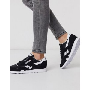 Reebok Classic Nylon sneakers in black and white Cool Popular XLTC185