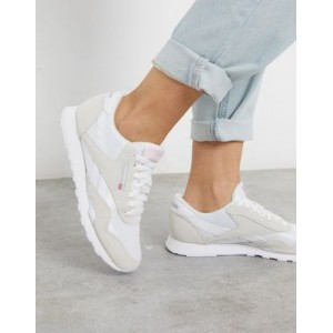 Reebok Classic Nylon sneakers in white and gray Hot ORHZ236